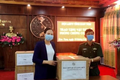 Hội LHPN tỉnh Kon Tum tặng 7.000 khẩu trang cho lực lượng Bộ đội biên phòng